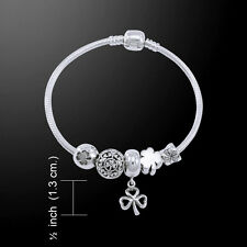 Shamrock .925 Sterling Silver Bead Bracelet by Peter Stone