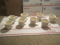 Pfaltzgraff Tea Rose Mugs - Set of 8 Made in USA EUC. Free Priority Shipping