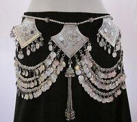 Tribal Fusion Belly Dance BELT Kuchi Gypsy Hippie Bohemian Skirt Costume Jewelry