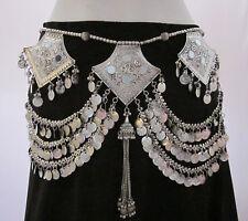 Coin Fringe Tassel Tribal Belt - Belly Dance Festival Gypsy Boho Costume Jewelry