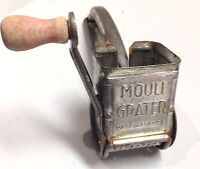Vintage Mouli Cheese Grater w Red Wooden Crank Handle Made in France Pat Pending
