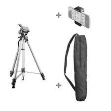 Walimex pro WT-3530 Basic Stativ 146cm silber, inkl. Tasche und Handy Halter