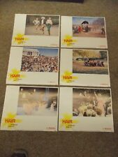 "HAIR(1979) LOT OF 6 DIFFERENT 11""BY14"" LOBBY CARDS"