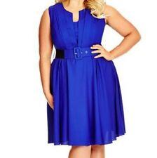 Royal Blue City Chic Dress - Size M