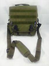 Olive Green Messenger Tote Shoulder Strap Bag