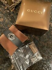 Gucci Women's Watch Signature Rubber Cuff Band Black