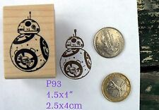 P93 BB8 robot rubber stamp wm