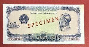 VIETNAM - Specimen 20 Dong 1976 Pick# 83s UNC. (#178)