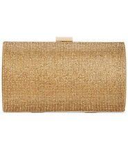 INC | Ranndi Sparkle Clutch | Evening Bag | Special Occasion | Gold