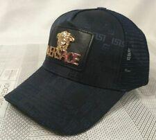 Men Womens Versace Baseball Cap Adjustable Strap Cotton Black Golf Hip-hop Hat