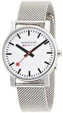 Mondaine Men's Midsize A658.30300.11SBV SBB EVO 35mm White Dial Mesh Bracelet