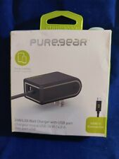 Puregear 24W/4.8A Wall Charger for USB Port and USB-C cord - Black (5211)