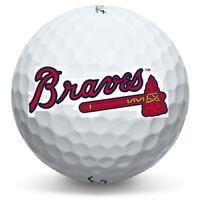1 Dozen Atlanta Braves Logo Titleist Pro V1 Mint Perfect Conditon Golf Balls
