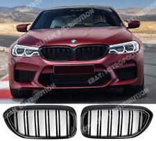 BMW 5 G30 G31 F90,saloon sedan estate,dual slat,M5 M6 grille,FULL GLOSS BLACK