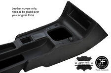 BLACK STITCH 2X CONSOLE SIDE TRIM LEATHER COVERS FITS FIAT COUPE 1994-2000