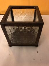 Home Interiors Glass Square Candle Holder 4 X 4
