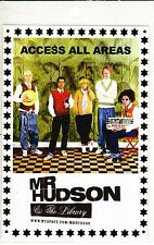 MR HUDSON & THE LIBRARY 2007 UK laminate Tour Pass