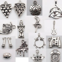 Tibetan Silver Charm Pendants Jewelry Making DIY Handmade Crafts Spacer beads
