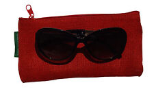 Red Handmade Abaca Eyeglass Case (Soft Sided)
