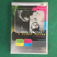 (1 DVD + LIBRO) Andy WARHOL - 4 SILENT MOVIES FILM MUTI MARIO BANANA Raro Video