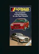 LEXMAUL OPEL TUNING  KOMPLETTES TUNING PROGRAMM  1989 KATALOGAUSZUG (BROCHURE)