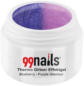 Thermo Glitzer Effektgel Blueberry-Purple Thermogel Pink Lila Violett Thermo Gel