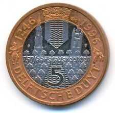 Netherlands 750 Years City Delft 5 Delftsche Duyt Jetton Token 1996 UNC