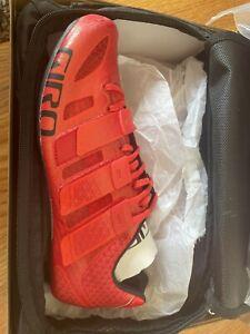 GIRO PROLIGHT TECHLACE Red shoes cycling shoes. Sz 6.5. Eu 39 . NIB
