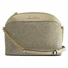 NWT Michael Kors Emmy Gold Glitter Metallic Crossbody Bag