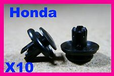 10 Honda bumper fender fascia panel cover push fit fastener clips