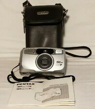 Pentax IQZoom 115V 35mm Point & Shoot Film Camera - Tested, Working - w/Case