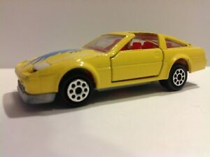 vintage MAJORETTE Nissan Datsun 300 ZX Turbo Sports Car #214 Yellow unused
