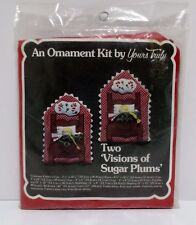 Ornament Kit Two Visions Of Sugar Plums Kit By Yours Truly #2853 USA