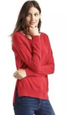 Women's GAP Drop Sleeve Pullover Sweater, Red, Size Medium