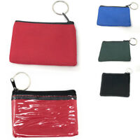 Coin Pouch Wallet Change Holder Purse With Key Chains 4 Colors ID Holder Cards