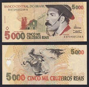 Brazil 5000 Cruzeiros Reais 1993 Fds / UNC B-02