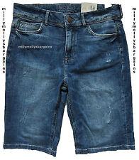 New Womens Marks & Spencer Blue Denim Boyfriend Shorts Size 8 DEFECT