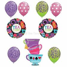 9 PC MAD HATTER Tea Party Balloons Alice in WONDERLAND Free Shipping