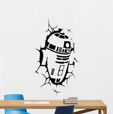 R2-D2 Wall Decal Star Wars R2D2 Droid Vinyl Sticker Kids Art Decor Mural 78crt