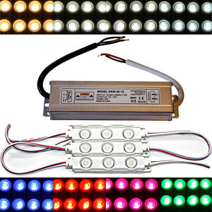 LED Module+Power Supply - 12V - 5730 SMD Chip Warm White Red Blue Injection