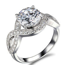 Halo Ring Gold Engagement White Round Cut 14k 1 ct Solitaire D VS2