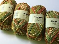 "LOT of 4 Crystal Palace Yarns Cuddles DK #2016 ""Almost Autumn"" Machine Washable"