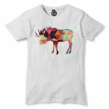 Geometric Moose T Shirt Funny Hipster Triangle Tshirt Mens Womens Dope Swag 67