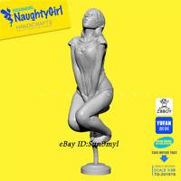 Looking-up Girl Unpainted Resin Kits Model GK Figurine YuFan 50mm 1/35