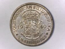 SOUTH AFRICA 1940 2 1/2 Shillings  Silver Geo VI  Very FINE