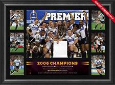 Brisbane Broncos Deluxe Tribute Frame 2006 NRL Premiers Darren Lockyer
