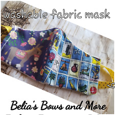 Fiesta time. Mexican,Adult.Washable Fabric Mask with pocket