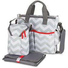 Baby Diaper Bag for Girls & Boys – 3 in 1 Compact Diaper Weekender Tote Bag