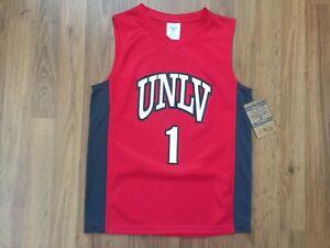 UNLV Runnin Rebels #1 NCAA SUPER AWESOME BOYS Sz M (8-10) Basketball Jersey!