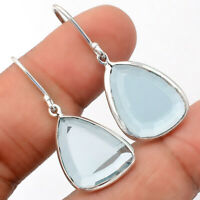 Natural Sky Blue Topaz 925 Sterling Silver Earrings Jewelry 3147